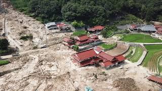 広島県呉市安浦町中畑市原《平成30年7月豪雨災害》この地域は上空から見たら惨な姿になっていた。