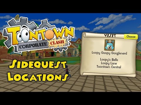 Toontown: Corporate Clash Sidequest Locations