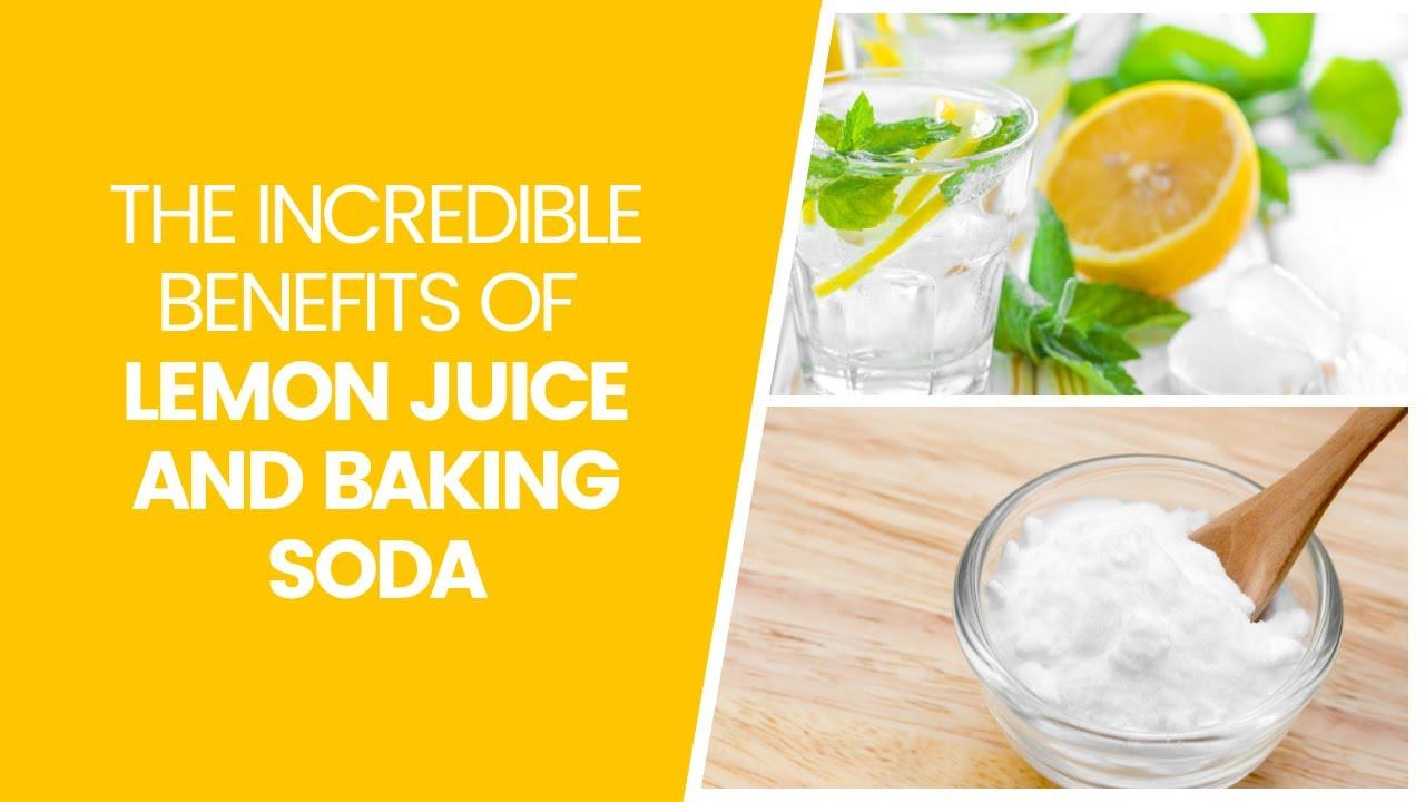 lemon juice & baking soda fight disease and increases energy