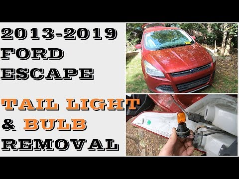 How to Change replace Tail light bulbs Ford Escape 2013-2019