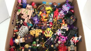 Box of Little Toys with Names Iron Golem Chica Freddy Mario Steve Mr. Hippo Roblox Figures