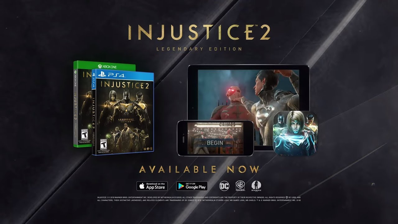 Injustice 2 – Legendary Edition Now Available for Xbox One