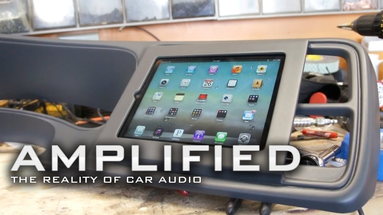 medium resolution of amplified ipad installed into dash chevy truck how to build speaker tester amplified 77 youtube
