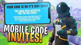 FORTNITE MOBILE CODE INVITES BEING PROCESSED! iOS / ANDROID - Fortnite: Battle Royale
