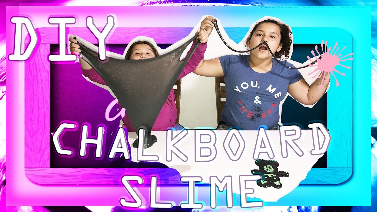 Slime Master Mary And Izzy: DIY CHALKBOARD SLIME ( SO EASY ANYONE CAN MAKE IT)