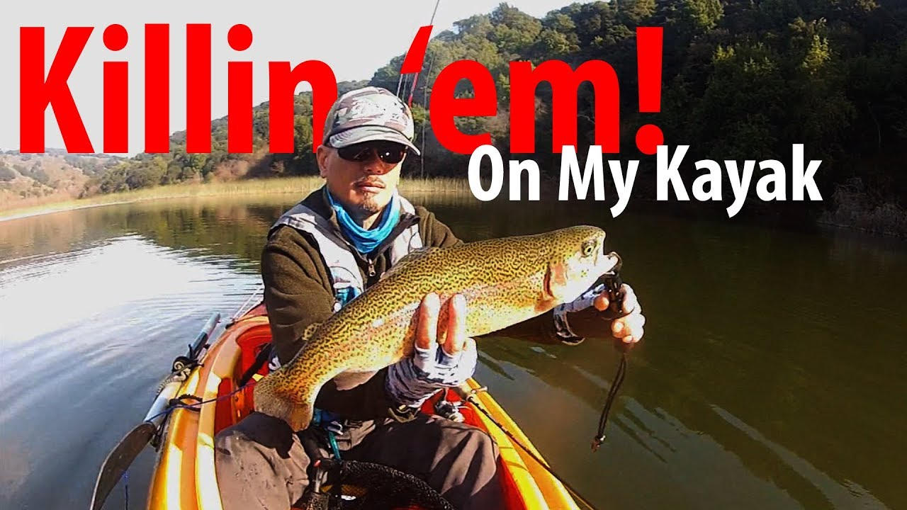 Kayak Trout Fishing at Lake Chabot