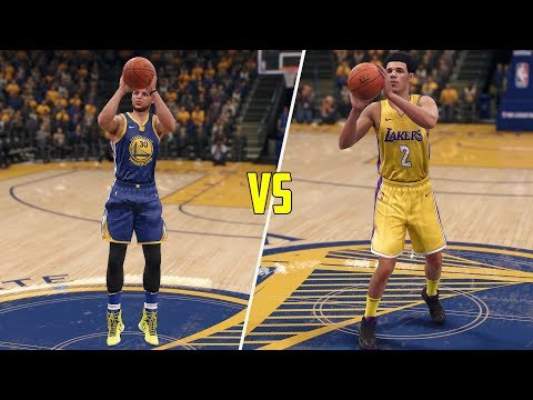 Stephen Curry vs Lonzo Ball! Who Can Hit A Half Court Shot First? NBA Live 18 Challenge!