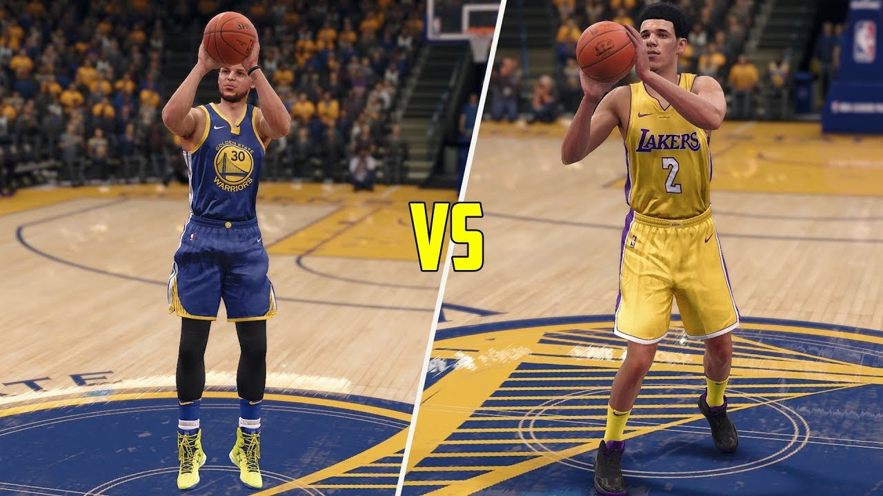 1c78438fcf7e Stephen Curry vs Lonzo Ball! Who Can Hit A Half Court Shot First  NBA Live  18 Challenge!
