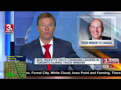 Governor Ricketts visits Canada on trade mission