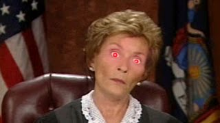 YouTube Poop: Judge Judy Sentences An Idiot To Death