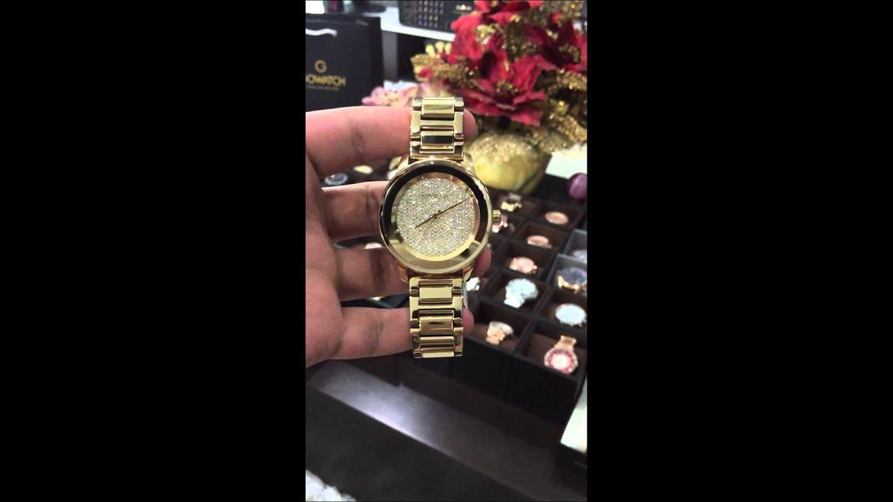 MICHAEL KORS Kinley Pavé Gold Mk6209 - YouTube 18a6273fd0
