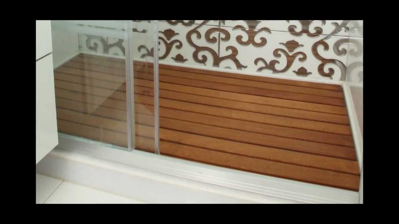 Ahşap Duş Deck Teak Duş Paspası 2012 Wood Deck Shower Mats