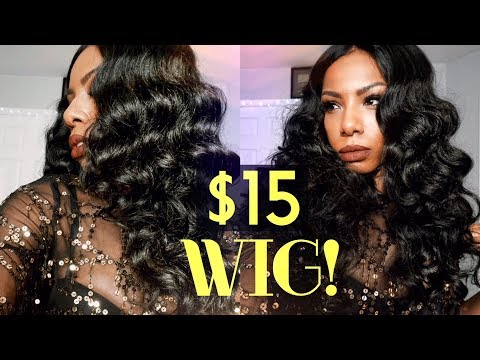 $15 MUST HAVE VALENTINE'S DAY BOMBSHELL WIG! FULL GLAM SENSATIONNEL EMPRESS LACE WIG DEE