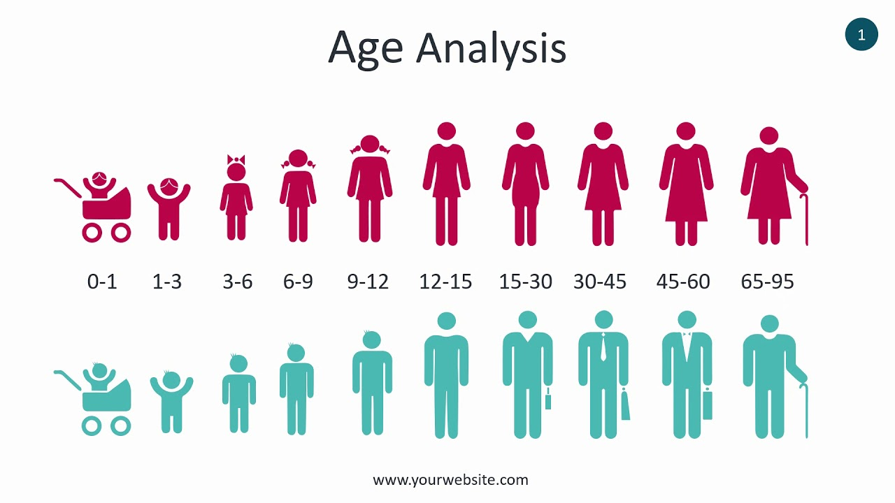 Age Analysis Infographic Animated Powerpoint Template