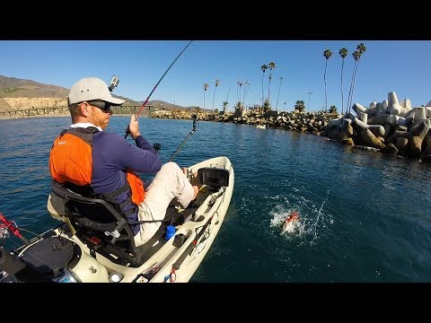 Kayak Fishing For White Sea Bass & Eating Raw Fish | #FieldTrips West Coast