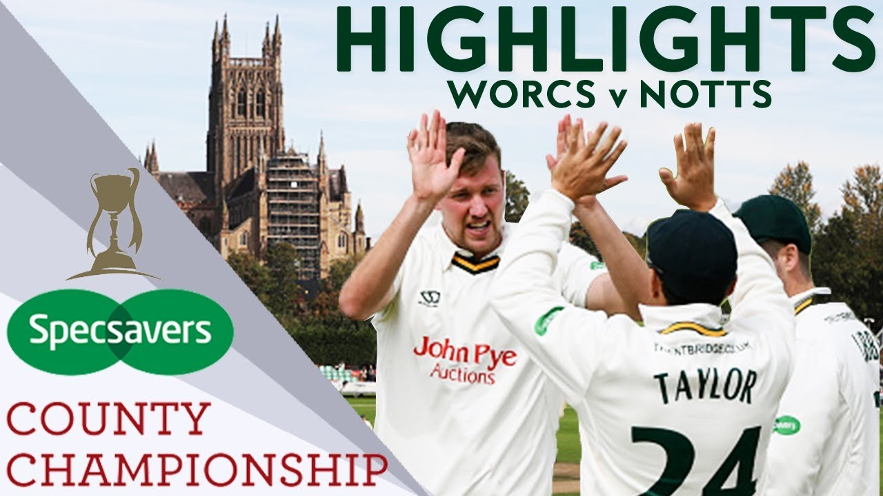 Ball And Fletcher Star In 2 Day Game As Stuart Broad Returns For Notts v Worcs  - CC 2018 Highlights