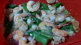 Steamed Shrimp and Scallops Microwave Recipe Using Lekue Steam Case