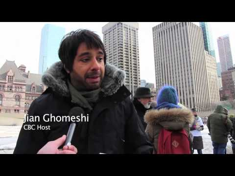Journalism is not a Crime protest in Toronto February 27, 2014