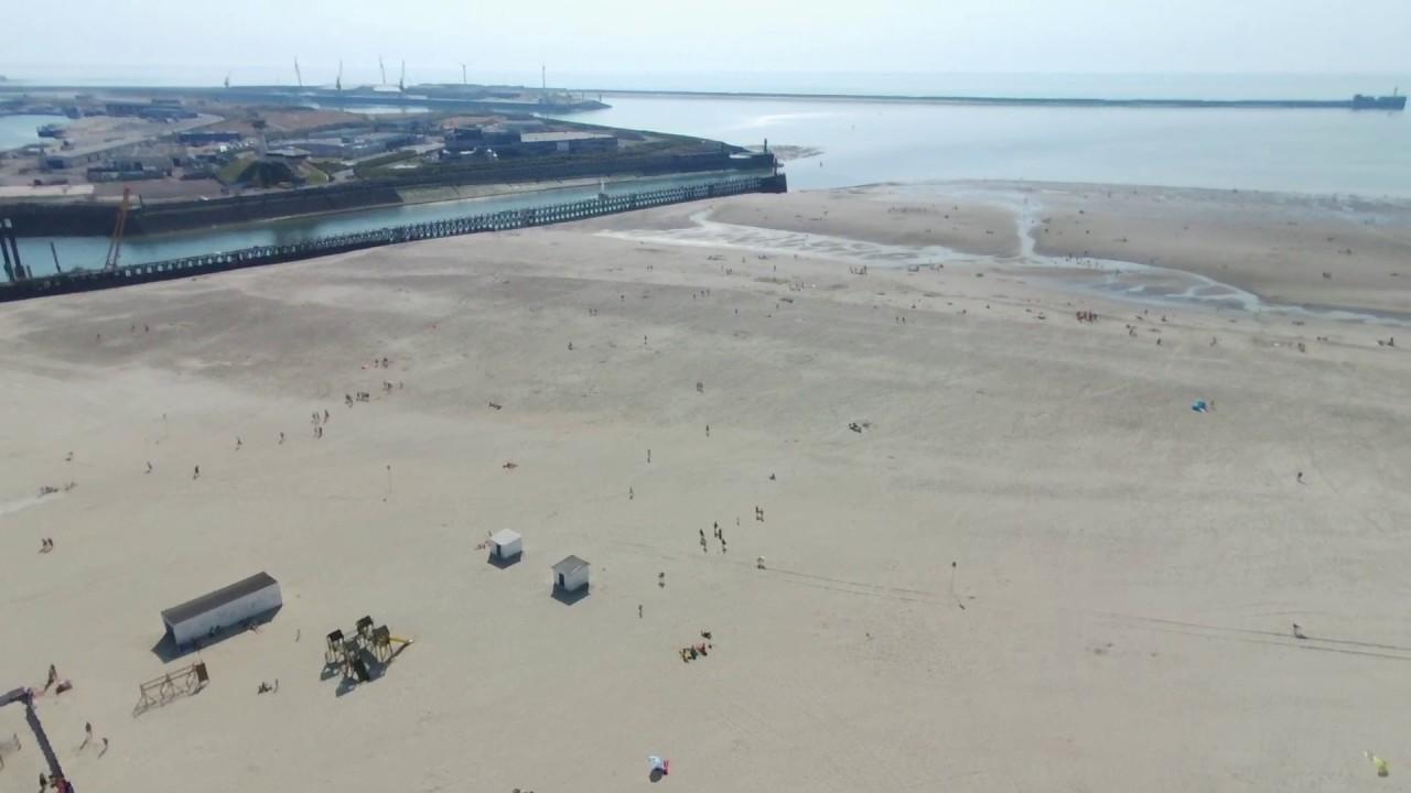 Plage Boulogne Sur Mer Vue Du Drone Youtube