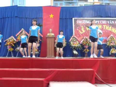 Múa ngày khánh thành - Trường THPT Chu Văn An - Phú MỸ - Phú Tân - An Giang