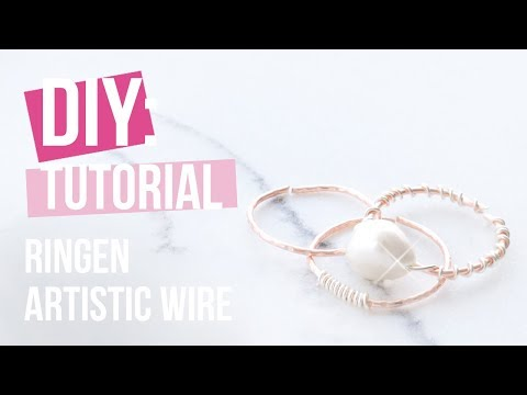 Sieraden maken: Artistic Wire ringen ♡ DIY