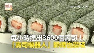 每小時捏出3600個壽司! 「壽司機器人」師傅也讚嘆《科技大觀園》2018.02.22