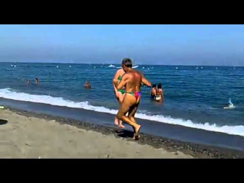 c91eaf251cbc Old Guy Running On The Beach In A Thong - YouTube