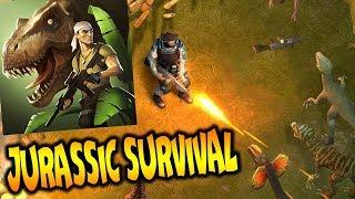 Jurassic Survival обзор на игру прохождение игровое видео про динозавров летсплей