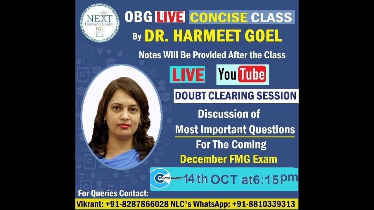 CC of OBG by Dr Harmeet Goel : Part :6. LAST SECTION ( IMPORTANT SLIDES AND MCQ )