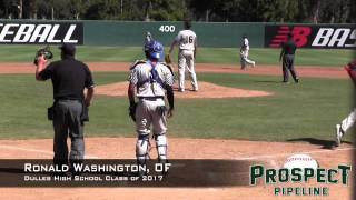 Ronald Washington,OF, Dulles High School Class of 2017, Home Run at the Area Code Games