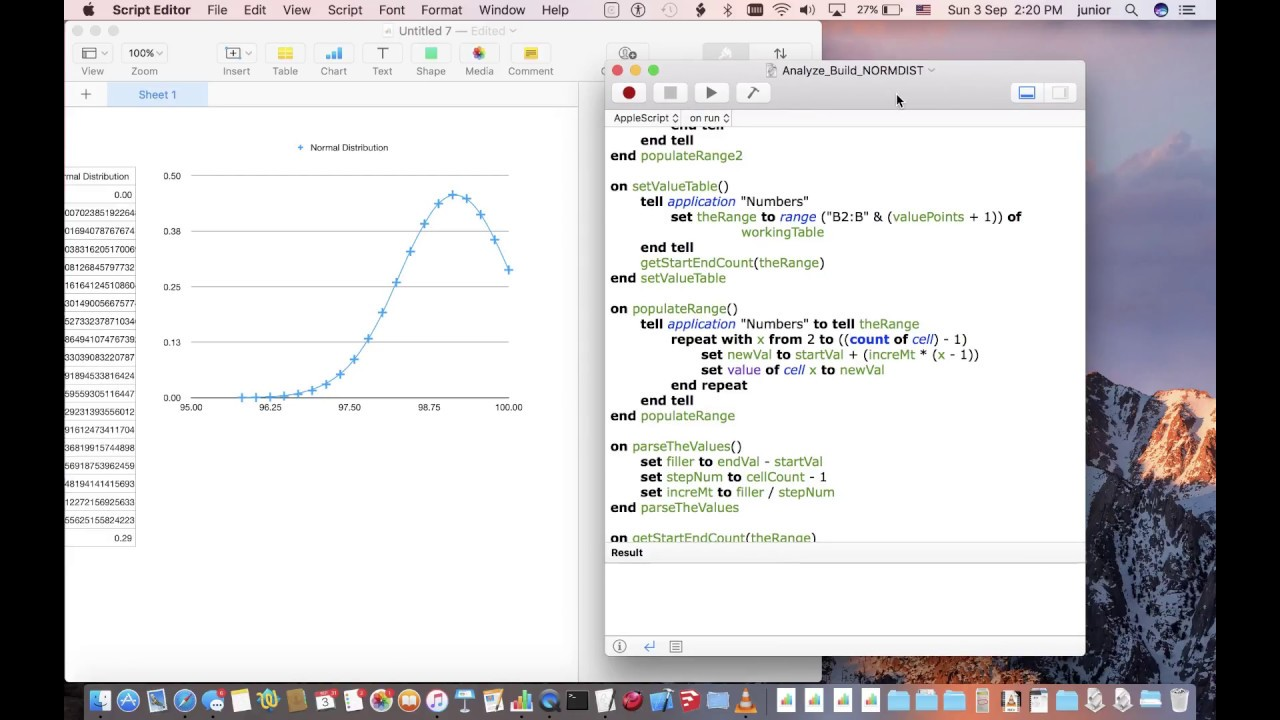 Super easy bell curve on macOS Numbers (in just 6 clicks)