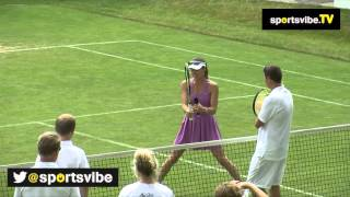 Martina Hingis Gives A Masterclass In Volleying