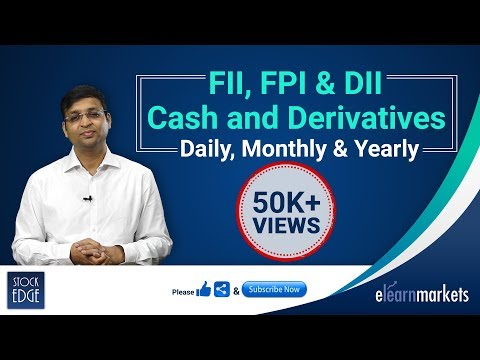 FII, FPI & DII Cash and Derivatives Daily, Monthly & Yearly