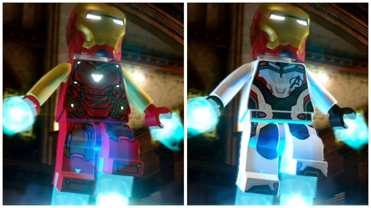 All IRON MAN Avengers: Endgame Suits in LEGO Marvel Super Heroes 2 Cutscene