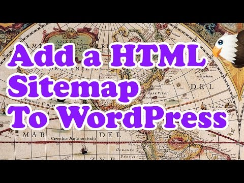 how to add a html sitemap to wordpress youtube