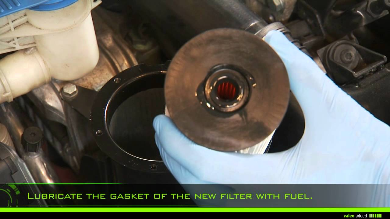 valeo fuel filter - fitment of fuel filter element type