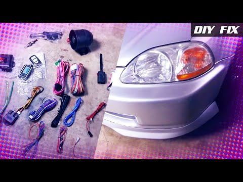 DIY Fix | Remote Start + Alarm SP-502 Honda Civic [English]
