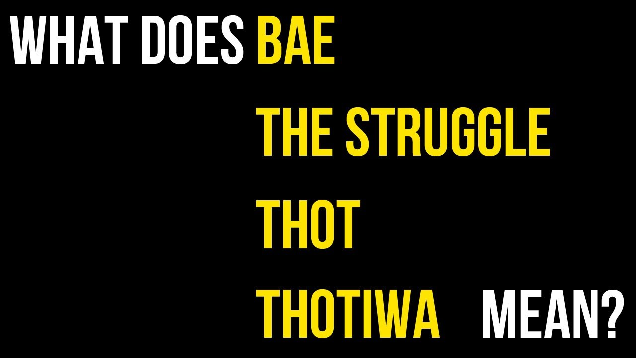 What does thot mean in slang