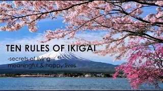 Book summary of Ikigai, secret of living meaningful & happy lives