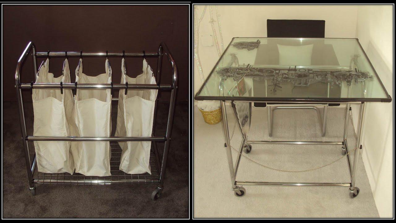 C mo hacer un escritorio de vidrio how to make a glass for Como disenar una mesa