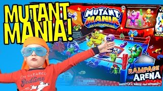 Wrestling Toys - Mutant Mania Rampage Arena Toy Review with Imaginext Batman Toys KidCity