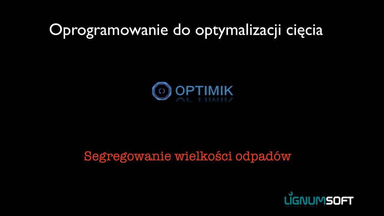 Optimik - Segregowanie wielkości odpadów
