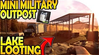MINI MILITARY OUTPOST + LAKE LOOTING ( Mist Survival Gameplay Part 5 )