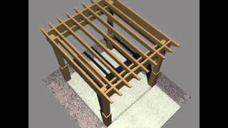 3d Model Of Pergola 1 Freestanding