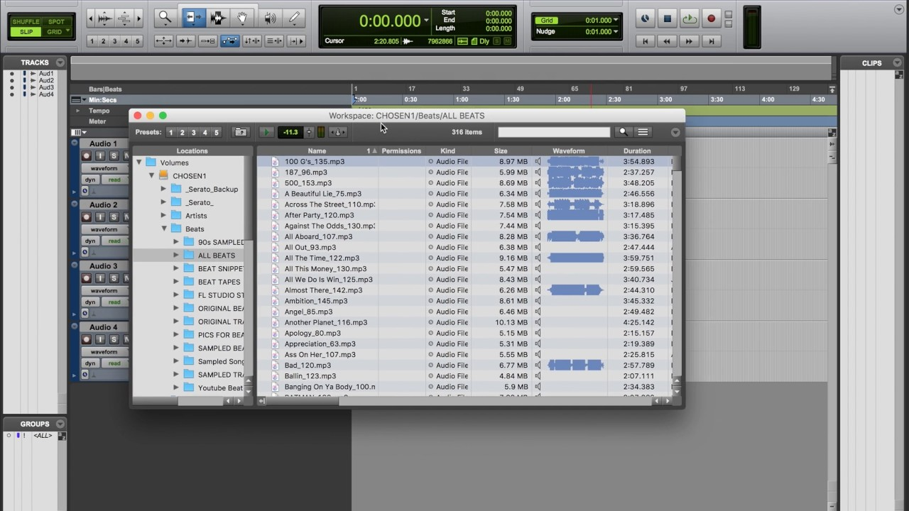 Workspace Browser How To Use The In Pro Tools