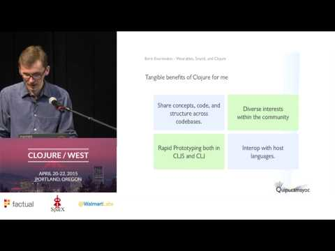 Clojure, Sound, and Wearable Tech