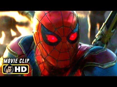 AVENGERS: ENDGAME (2019) Spider-Man Activates Instant Kill [HD]