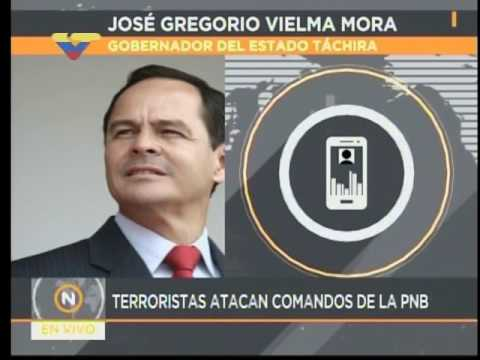 """Gobernador del Táchira da balance de """"Gran Plantón"""" de la oposición y ataque a puestos PNB"""