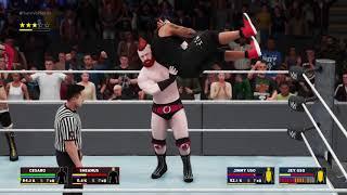WWE Survivor Series The Bar vs The Usos WWE 2K18 PS4