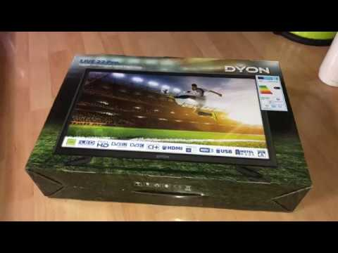 Dyon Live 22 Pro 22 Zoll Fernseher Full-HD, Triple Tuner, DVB-T2 H.265 Unboxing Und Montage